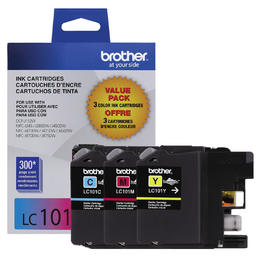 LC1013PKS Brother Original (OEM) 3 pack CMY inkjet cartridges