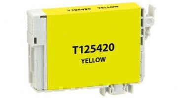 T125420 Remanufactured/Compatible high yield yellow inkjet cartridge for Epson Work Force