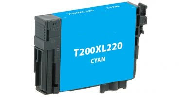 T200XL220 Remanufactured/Compatible high yield cyan inkjet cartridge for Epson Work Force