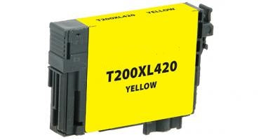T200XL420 Remanufactured/Compatible high yield yellow inkjet cartridge for Epson Work Force