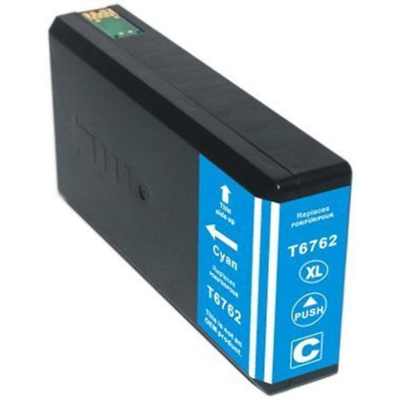 T676XL220 Remanufactured/Compatible high yield cyan inkjet cartridge for Epson Work Force