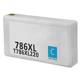 T786XL220 Remanufactured/Compatible high yield cyan inkjet cartridge for Epson Work Force