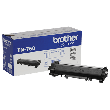 TN760 Brother Original (OEM) High Yield Black Toner Cartridge