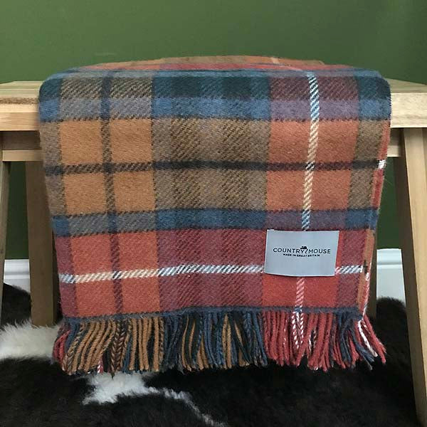 Antique Buchannan Tartan wool throw