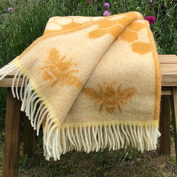 J.J. Textiles Bee Throw