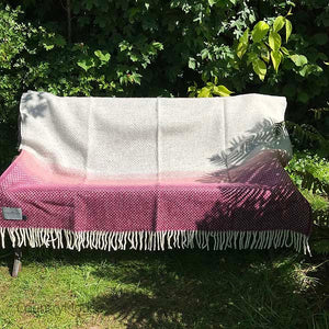 Country Mouse Berry Wave Pure Wool Throw Open