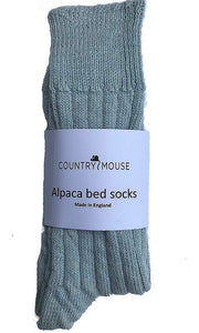 Powder Blue Alpaca Bed Socks