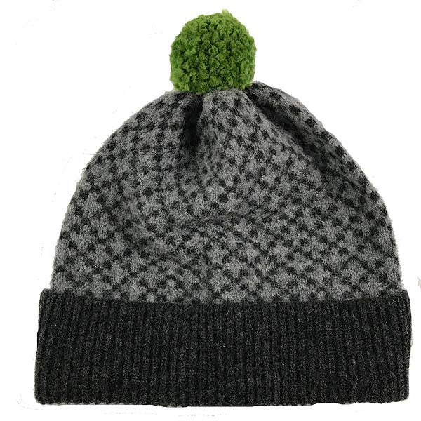 Charcoal and mid grey merino wool hat