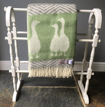 Load image into Gallery viewer, J.J. Textiles Geese wool throw folded in half