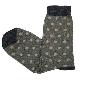 Wool Grey Dot Socks