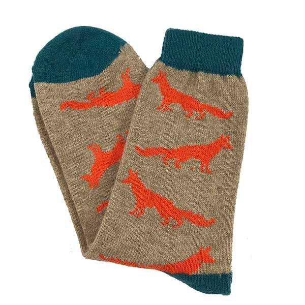 Orange Fox Socks