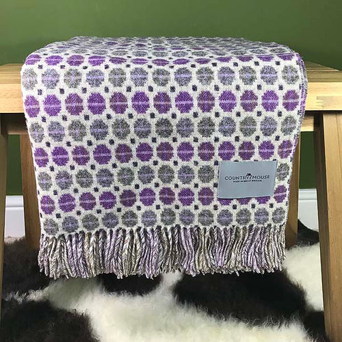 Milan clover merino wool throw