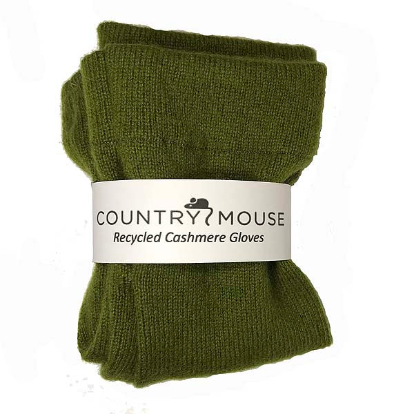 Moss cashmere gloves