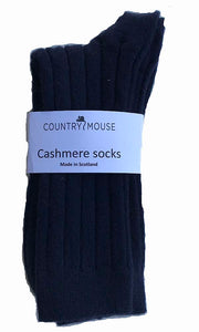 Navy Alpaca everyday sock