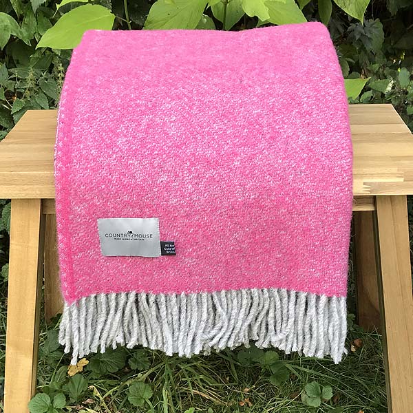 Pink New Wool Throw