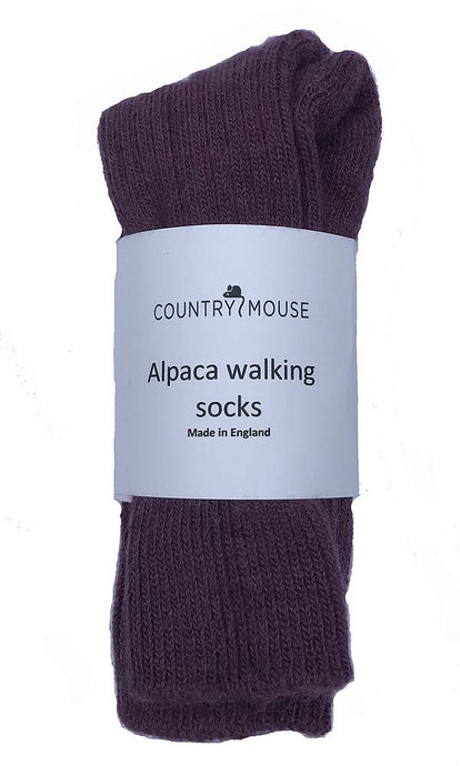 Plum alpaca walking socks
