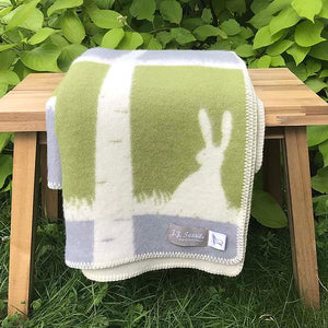 J.J. Textiles Rabbit Blanket folded