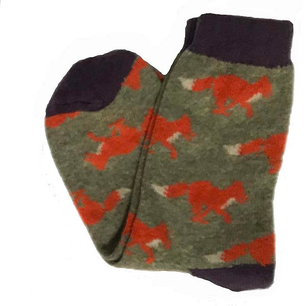 Sage running fox socks