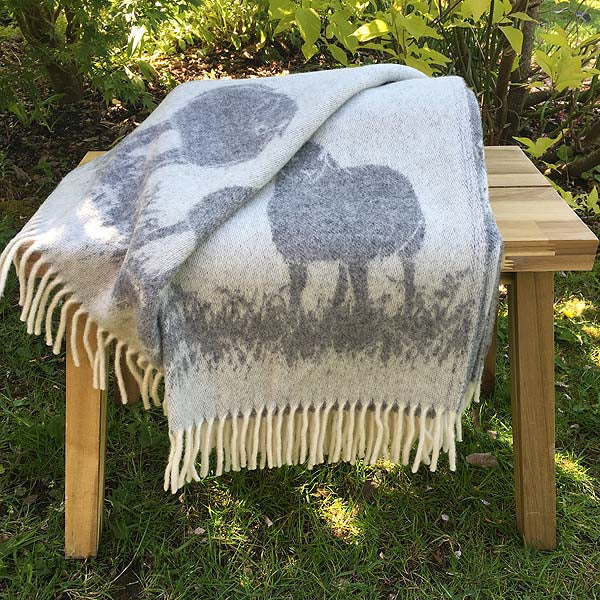 JJ Textiles Sheepy Wool Throw reverse