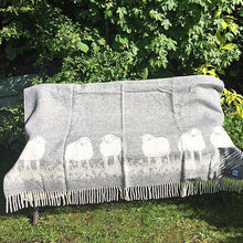 Load image into Gallery viewer, JJ Textiles Sheepy Wool Throw open