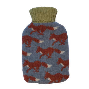 Slate Grey Fox Hot Water Bottle