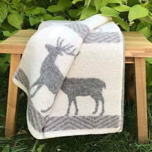 Load image into Gallery viewer, J.J. Textiles Stag wool blanket