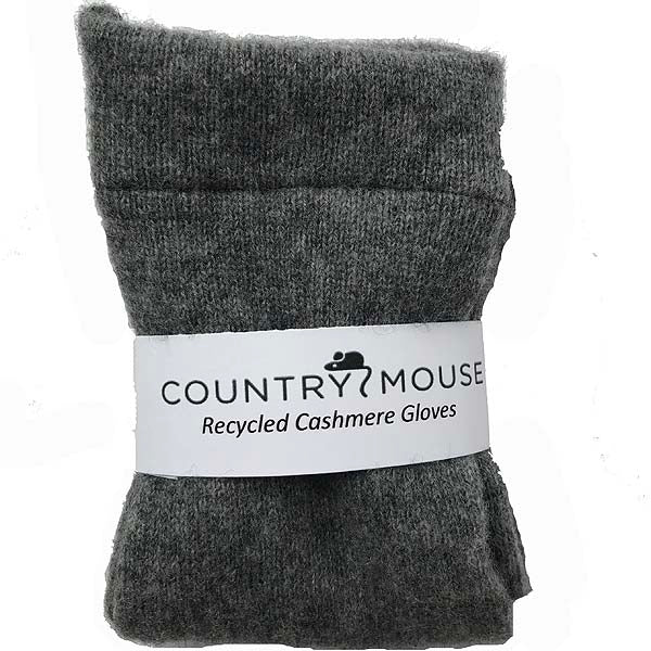Steel grey cashmere gloves