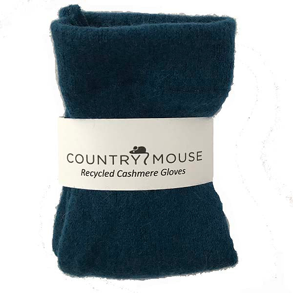 Teal cashmere gloves