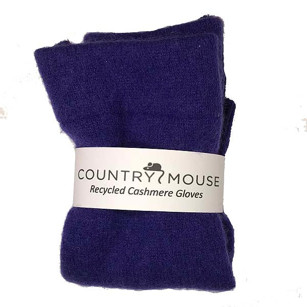 Violet cashmere gloves