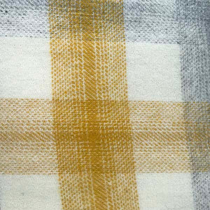 yellow check wool throw detail
