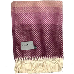 Berry Wave Wool Throw