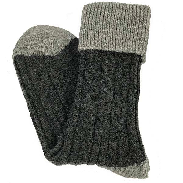 Charcoal and grey cashmere socks