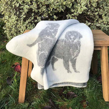 Load image into Gallery viewer, J.J. Textiles Grey Dog Blanket open