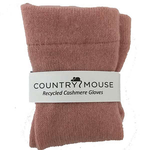 Dusty pink cashmere gloves