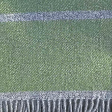 Load image into Gallery viewer, Fern broad stripe throw detail
