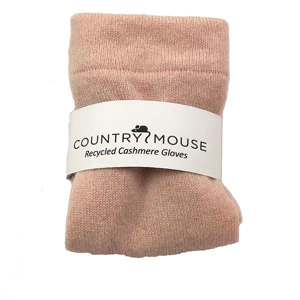 Light rose cashmere gloves