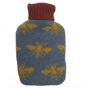 Mini Demin Bees Hot Water Bottle
