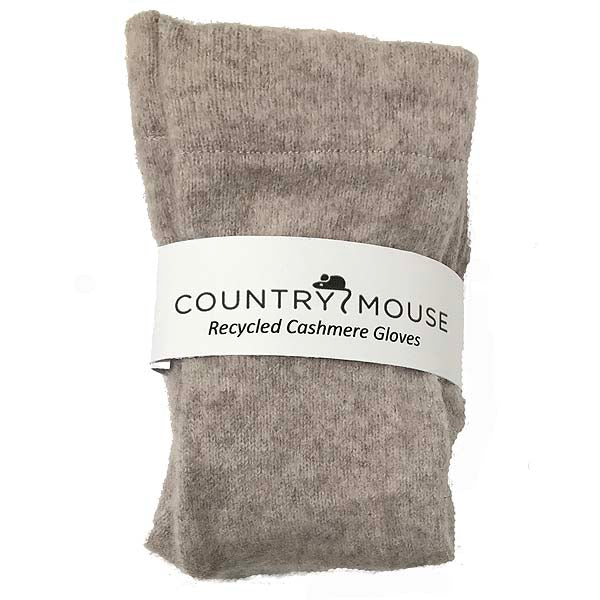 Mouse grey cashmere gloves
