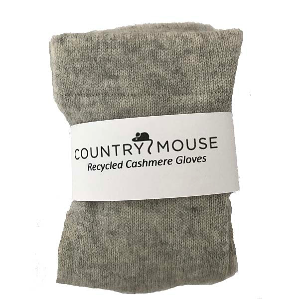 Soft grey cashmere gloves