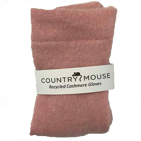Soft pink cashmere gloves