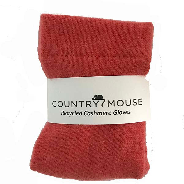 Soft pumpkin cashmere gloves