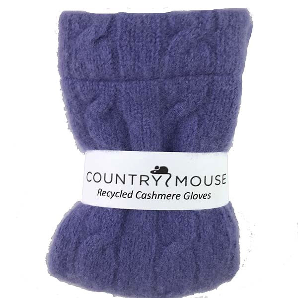 Soft violet cashmere gloves