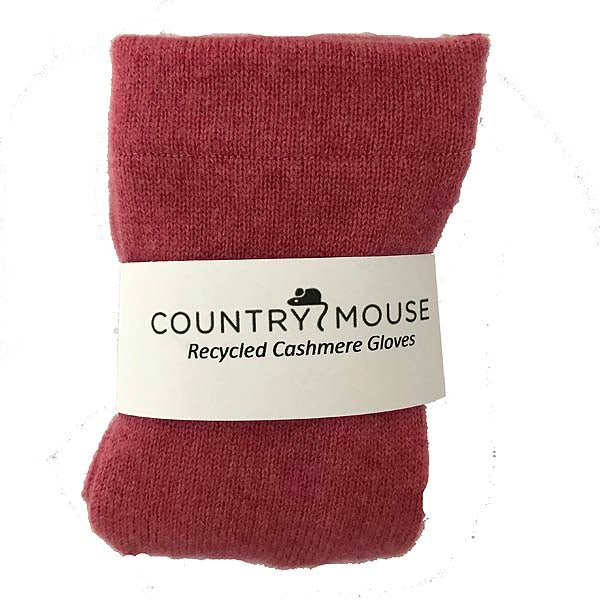 Strawberry sherbert cashmere gloves