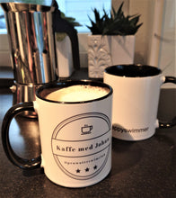 "Load image into Gallery viewer, Kaffemugg ""Kaffe med Johan"""