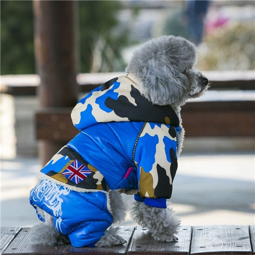 2018 Waterproof Fabric Pet Dog Clothes Thickening Warm Camouflage Dog Coat Jacket Clothing For Chihuahua Small Large Dogs S-XXL