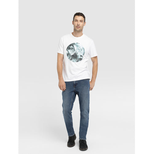 T shirt Cotton Short Sleeve Ocean Front Drawing Summer Casual Comfortable Fashion Neck Box Plus Size Male 4XL White