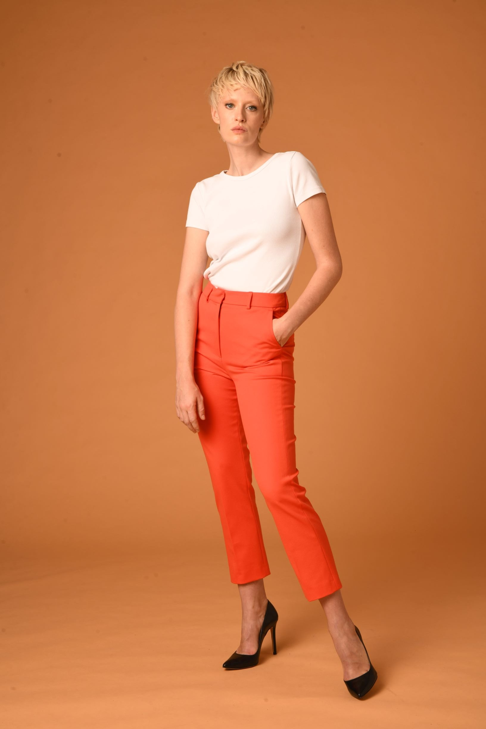 The Simone Pants - CORAL LIMITED