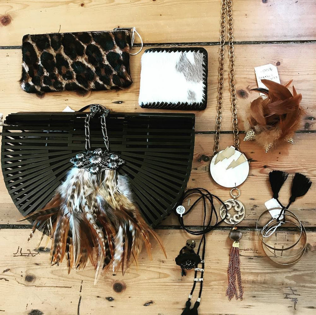 Feather Necklaces and Vintage Mother of Pearl