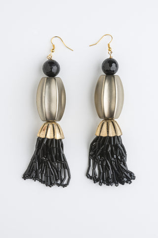 Into the Night Earrings Gorgeous Vintage pieces created into Contemporary Art
