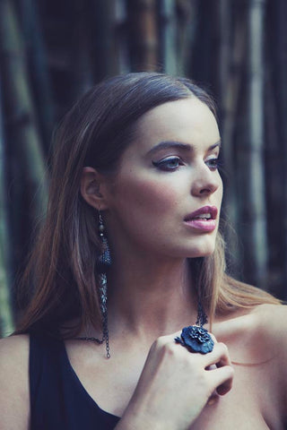 Tassel Earrings | Vintage Jewellery | Robyn Lawley | Mourning Ring